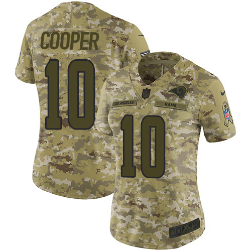 Nike Rams #10 Pharoh Cooper Camo Women's Stitched NFL Limited 2018 Salute to Service Jersey