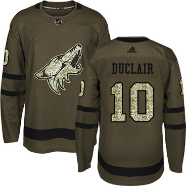 Adidas Coyotes #10 Anthony Duclair Green Salute to Service Stitched NHL Jersey