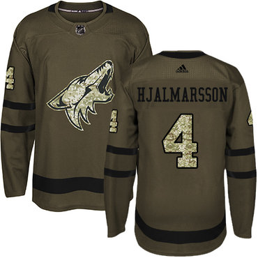 Adidas Coyotes #4 Niklas Hjalmarsson Green Salute to Service Stitched NHL Jersey