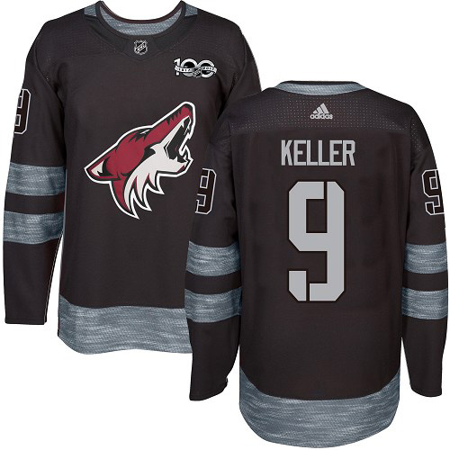 Adidas Coyotes #9 Clayton Keller Black 1917-2017 100th Anniversary Stitched NHL Jersey