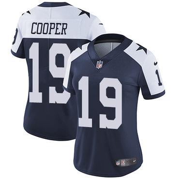 Dallas Cowboys#19 Limited Amari Cooper Navy Blue Throwback Nike NFL Alternate Vapor Untouchable Women's Jersey
