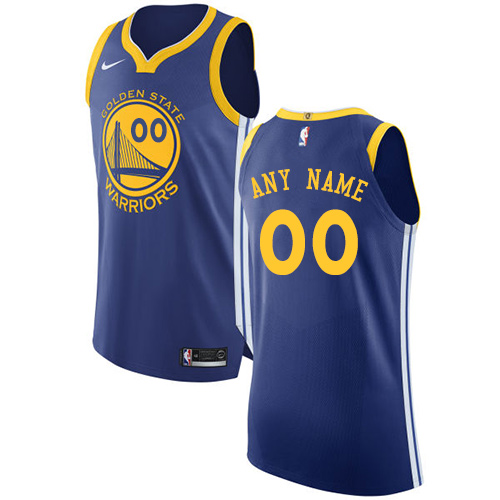 Youth Golden State Warriors Authentic Royal Blue Icon Edition Nike NBA Road Customized  Jersey