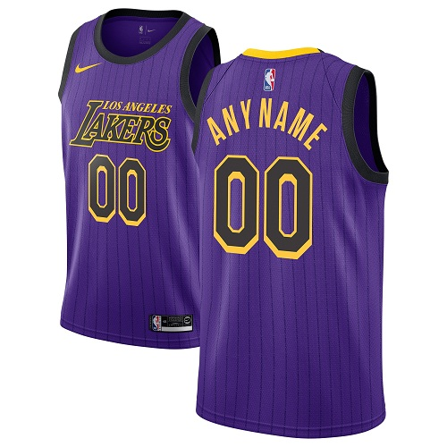 Men's Los Angeles Lakers Authentic Purple City Edition Nike NBA Customized Jersey