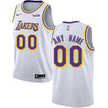 Men's Los Angeles Lakers Authentic White Association Edition Nike NBA Customized Jersey