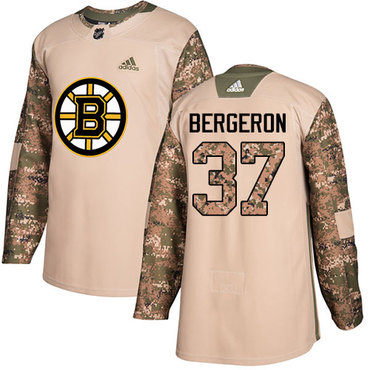 adidas bruins 37 patrice bergeron camo authentic 2017 veterans day stitched nhl jersey