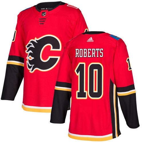 Adidas Flames #10 Gary Roberts Red Home Authentic Stitched NHL Jersey