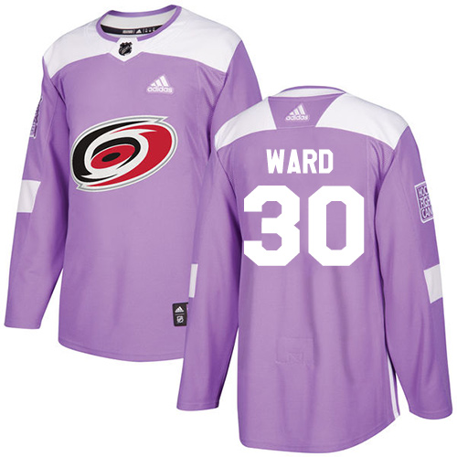 c5968d7f4 Adidas Hurricanes #30 Cam Ward Purple Authentic Fights Cancer Stitched NHL  Jersey