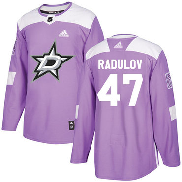 Adidas Stars #47 Alexander Radulov Purple Authentic Fights Cancer Stitched NHL Jersey