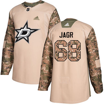 Adidas Stars #68 Jaromir Jagr Camo Authentic 2017 Veterans Day Stitched NHL Jersey