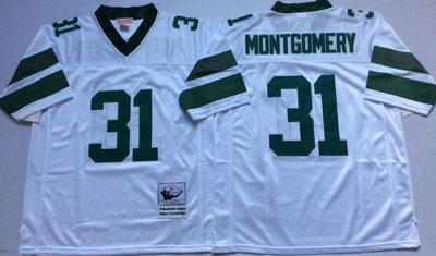 Eagles 31 Wilbert Montgomery White Throwback Jersey