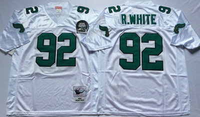 Eagles 92 Reggie White White Throwback Jersey