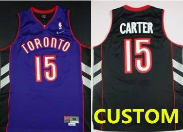 Custom Toronto Raptors Hardwood Classic Black With Purple Swingman Jersey