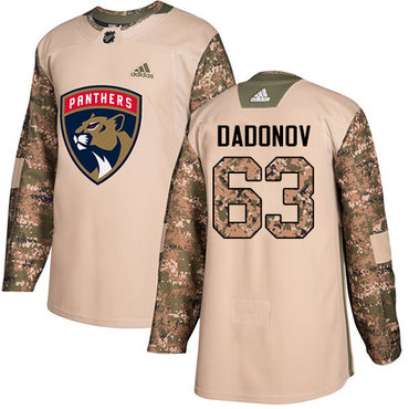 Adidas Panthers #63 Evgenii Dadonov Camo Authentic 2017 Veterans Day Stitched NHL Jersey