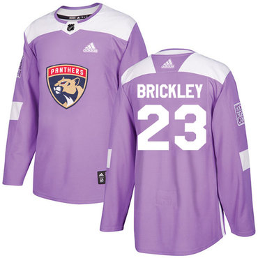 Adidas Panthers #23 Connor Brickley Purple Authentic Fights Cancer Stitched NHL Jersey