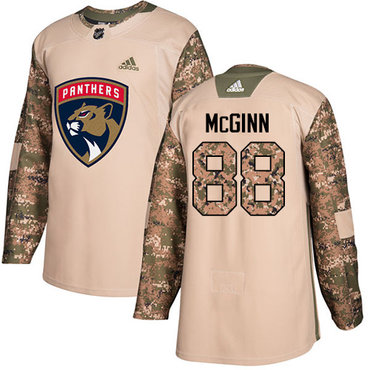 Adidas Panthers #88 Jamie McGinn Camo Authentic 2017 Veterans Day Stitched NHL Jersey
