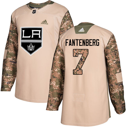 Adidas Kings #7 Oscar Fantenberg Camo Authentic 2017 Veterans Day Stitched NHL Jersey