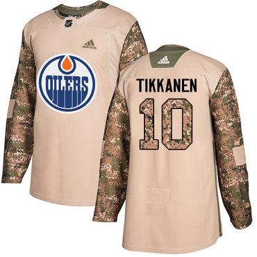 Adidas Edmonton Oilers #10 Esa Tikkanen Camo Authentic 2017 Veterans Day Stitched NHL Jersey