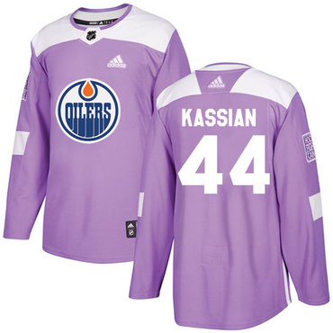 Adidas Edmonton Oilers #44 Zack Kassian Purple Authentic Fights Cancer Stitched NHL Jersey
