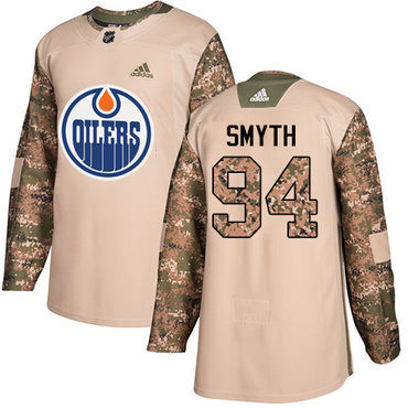 Adidas Edmonton Oilers #94 Ryan Smyth Camo Authentic 2017 Veterans Day Stitched NHL Jersey