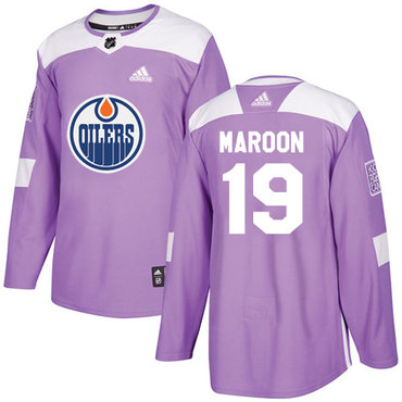 Adidas Edmonton Oilers #19 Patrick Maroon Purple Authentic Fights Cancer Stitched NHL Jersey