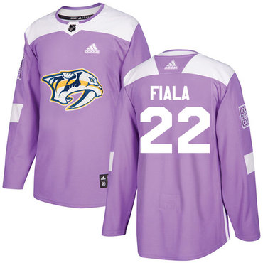 Adidas Predators #22 Kevin Fiala Purple Authentic Fights Cancer Stitched NHL Jersey
