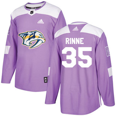 Adidas Predators #35 Pekka Rinne Purple Authentic Fights Cancer Stitched NHL Jersey