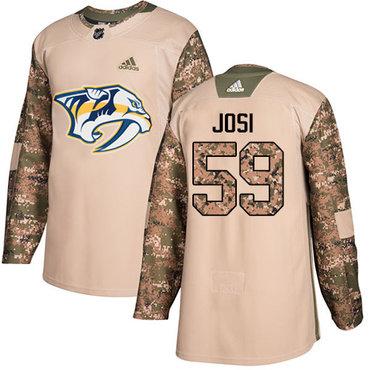Adidas Predators #59 Roman Josi Camo Authentic 2017 Veterans Day Stitched NHL Jersey