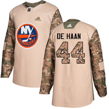 Adidas Islanders #44 Calvin De Haan Camo Authentic 2017 Veterans Day Stitched NHL Jersey
