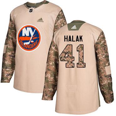 Adidas Islanders #41 Jaroslav Halak Camo Authentic 2017 Veterans Day Stitched NHL Jersey