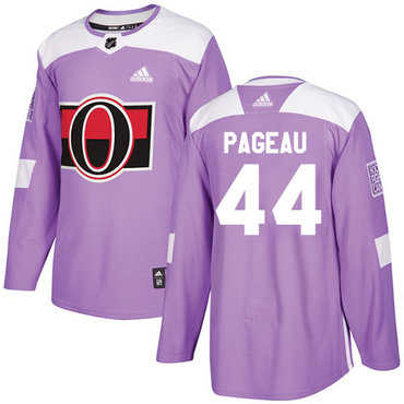 Adidas Senators #44 Jean-Gabriel Pageau Purple Authentic Fights Cancer Stitched NHL Jersey
