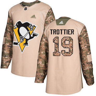 Adidas Penguins #19 Bryan Trottier Camo Authentic 2017 Veterans Day Stitched NHL Jersey