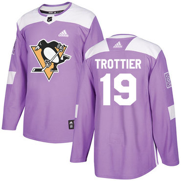 Adidas Penguins #19 Bryan Trottier Purple Authentic Fights Cancer Stitched NHL Jersey