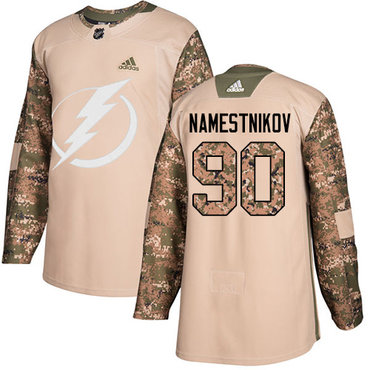 Adidas Lightning #90 Vladislav Namestnikov Camo Authentic 2017 Veterans Day Stitched NHL Jersey