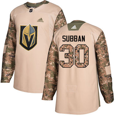 Adidas Golden Knights #30 Malcolm Subban Camo Authentic 2017 Veterans Day Stitched NHL Jersey