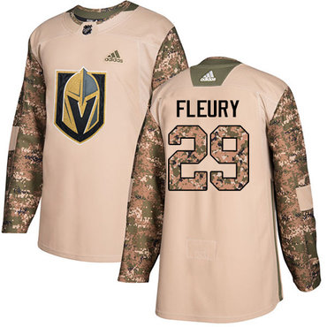 Adidas Golden Knights #29 Marc-Andre Fleury Camo Authentic 2017 Veterans Day Stitched NHL Jersey