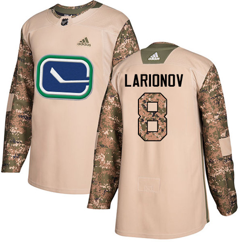 new styles e6e5d 6aae9 Adidas Canucks  8 Igor Larionov Camo Authentic 2017 Veterans Day Stitched  NHL Jersey