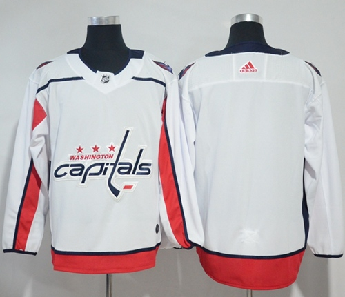 d2b8976cc Adidas Capitals Blank White Road Authentic Stitched NHL Jersey