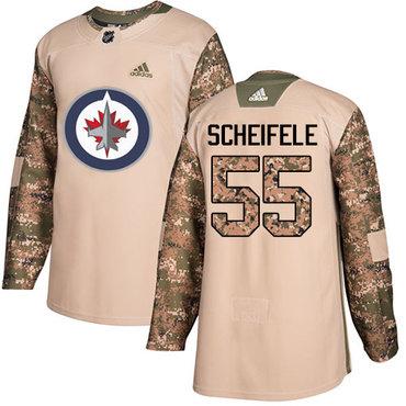 Adidas Jets #55 Mark Scheifele Camo Authentic 2017 Veterans Day Stitched NHL Jersey