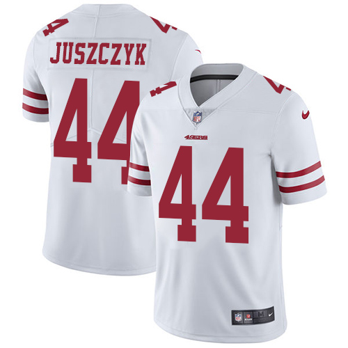 Nike 49ers #44 Kyle Juszczyk White Men's Stitched NFL Vapor Untouchable Limited Jersey