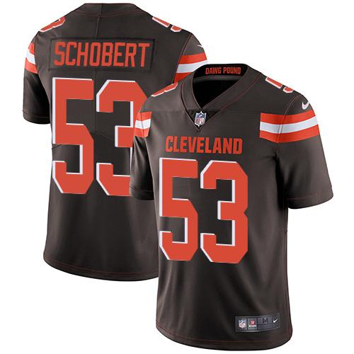 Nike Browns #53 Joe Schobert Brown Team Color Men\'s Stitched NFL Vapor Untouchable Limited Jersey