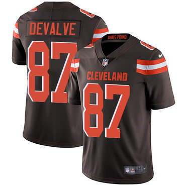 Nike Browns #87 Seth DeValve Brown Team Color Men\'s Stitched NFL Vapor Untouchable Limited Jersey