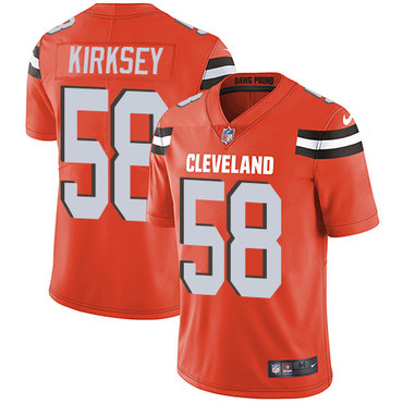 Nike Browns #58 Christian Kirksey Orange Alternate Men's Stitched NFL Vapor Untouchable Limited Jersey