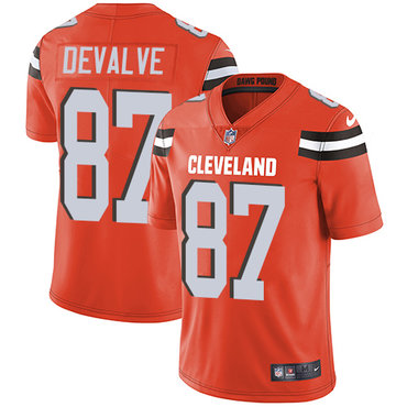 Nike Browns #87 Seth DeValve Orange Alternate Men\'s Stitched NFL Vapor Untouchable Limited Jersey