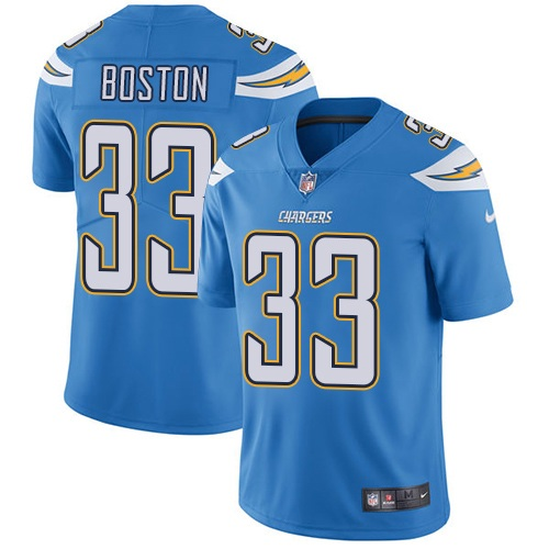 Nike Chargers #33 Tre Boston Electric Blue Alternate Men\'s Stitched NFL Vapor Untouchable Limited Jersey