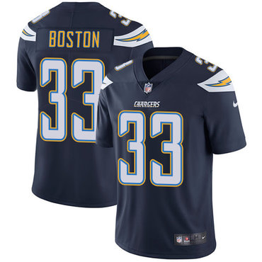 Nike Chargers #33 Tre Boston Navy Blue Team Color Men\'s Stitched NFL Vapor Untouchable Limited Jersey
