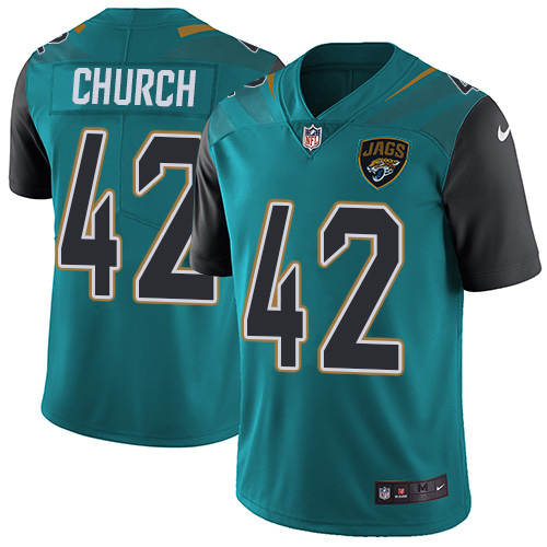 Nike Jaguars #42 Barry Church Teal Green Team Color Men\'s Stitched NFL Vapor Untouchable Limited Jersey