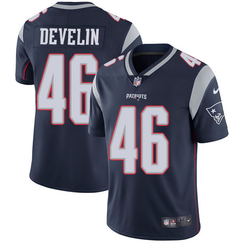 Nike Patriots #46 James Develin Navy Blue Team Color Men\'s Stitched NFL Vapor Untouchable Limited Jersey