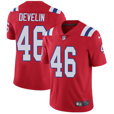 Nike Patriots #46 James Develin Red Alternate Men\'s Stitched NFL Vapor Untouchable Limited Jersey
