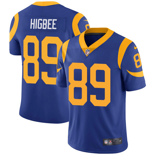 Nike Rams #89 Tyler Higbee Royal Blue Alternate Men\'s Stitched NFL Vapor Untouchable Limited Jersey