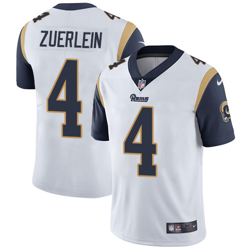 Nike Rams #4 Greg Zuerlein White Men\'s Stitched NFL Vapor Untouchable Limited Jersey
